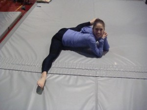 Miss Hannah's gorgeous straddle!