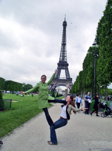 Acro in front of the Eiffel Tower!