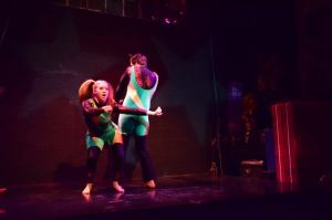 Chris Delgado & I bust a move at the Big Sky Works Holiday Show last year!